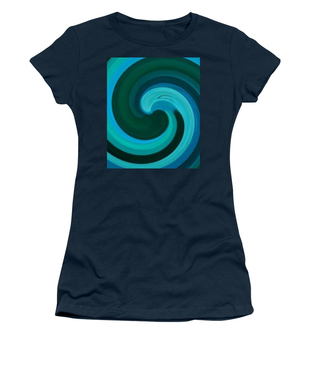 Continuious Women's T-Shirt (Athletic Fit) featuring the digital art A77 by Andrew Johnson