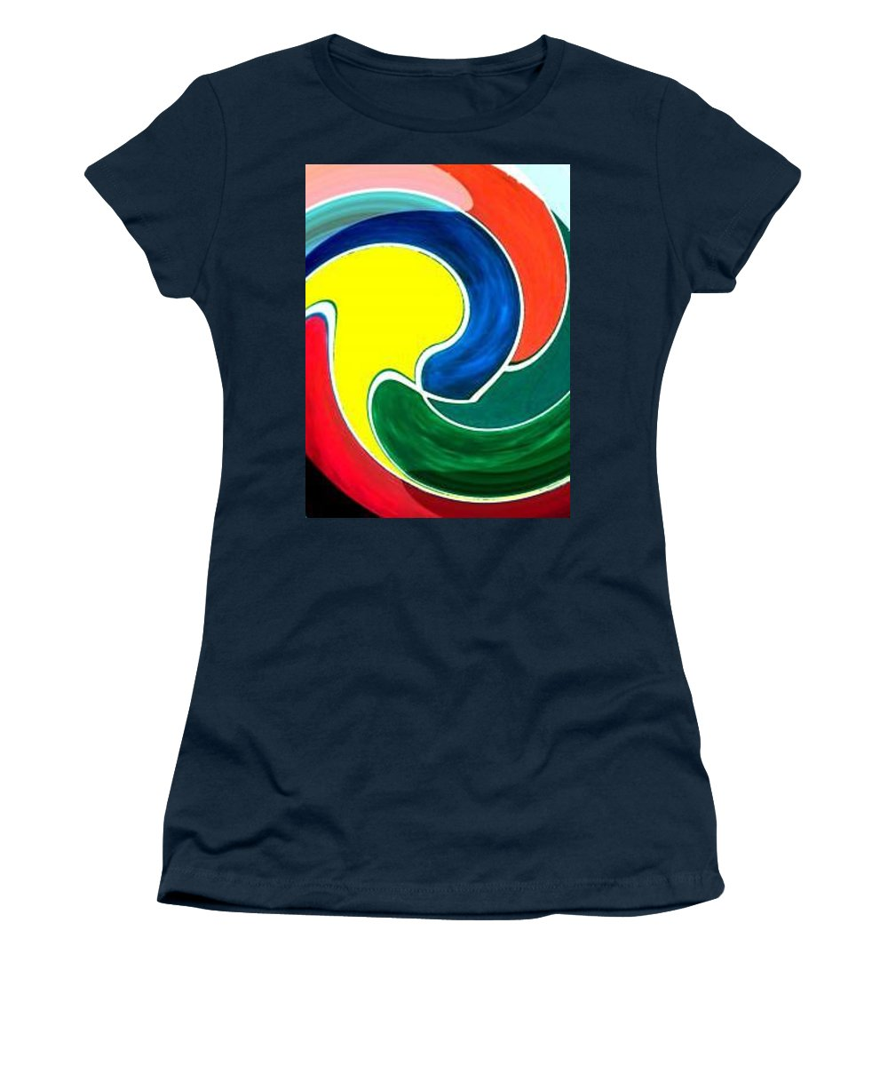 Digitalized Women's T-Shirt featuring the digital art Abbs by Andrew Johnson
