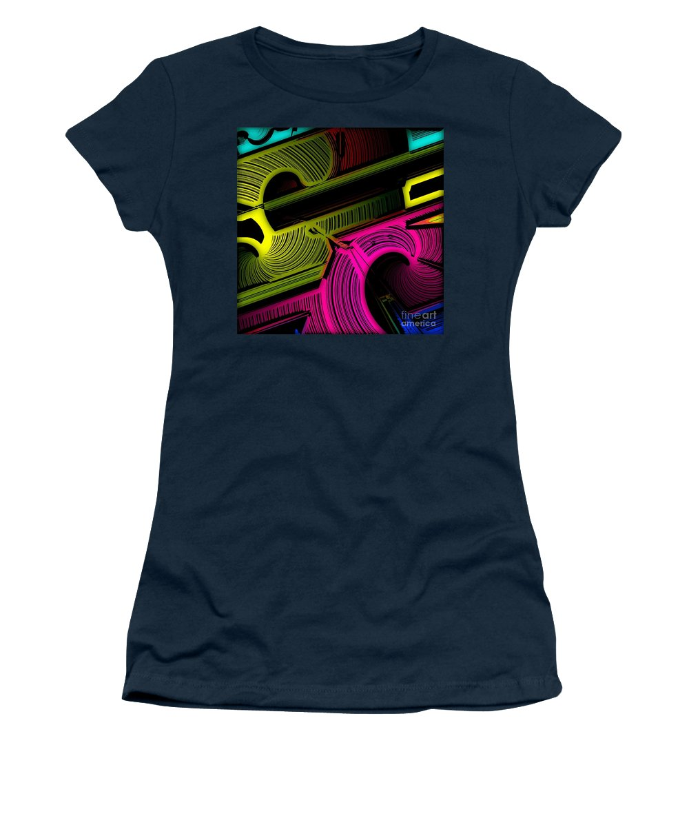 Abstract Women's T-Shirt featuring the digital art Abstract 6-21-09 by David Lane