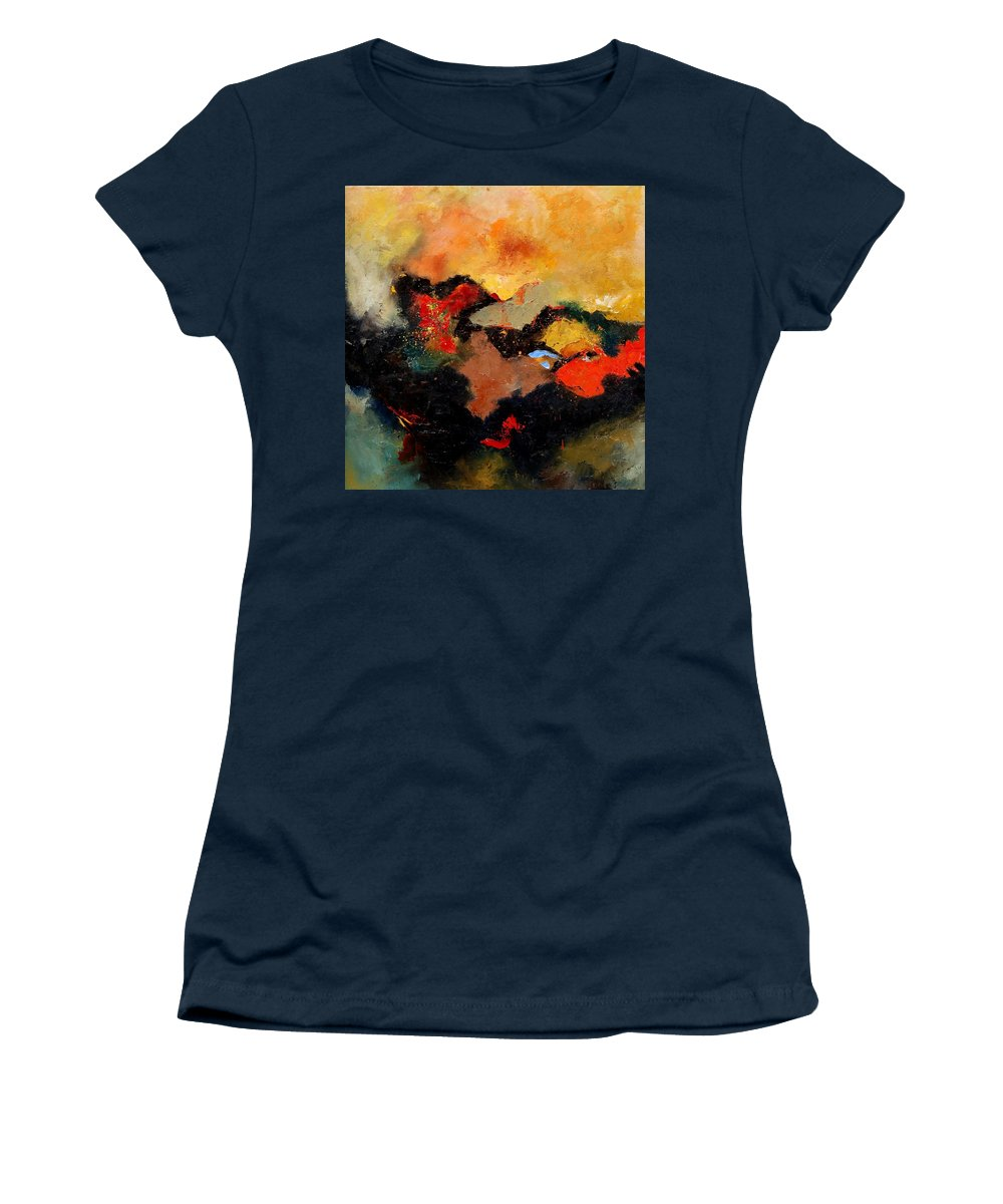 Abstract Women's T-Shirt featuring the painting Abstract 8080 by Pol Ledent