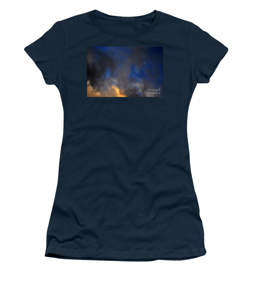 Clay Women's T-Shirt featuring the photograph Angry Sky by Clayton Bruster
