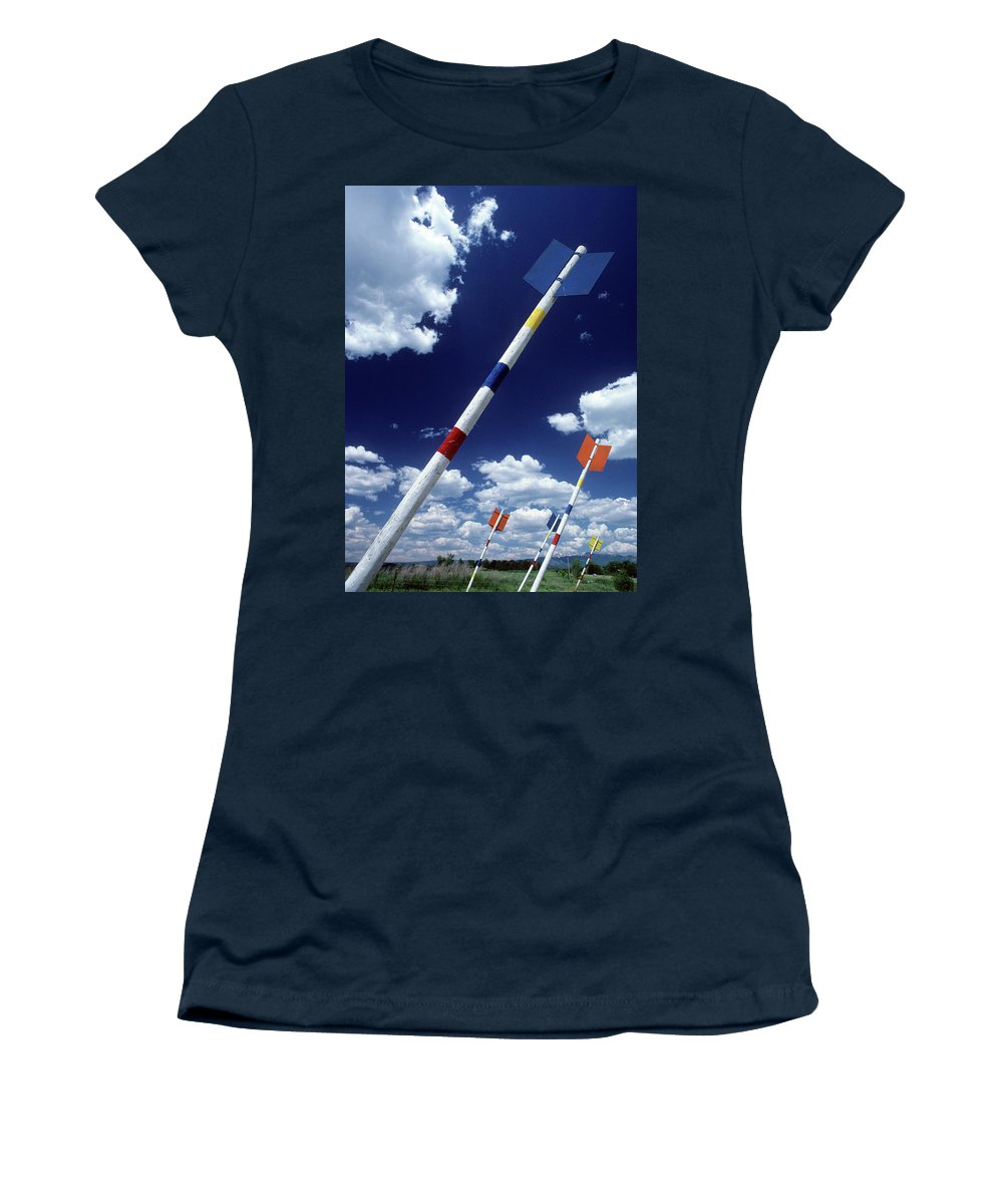 America West Women's T-Shirt (Athletic Fit) featuring the photograph Arrows by Steve Williams