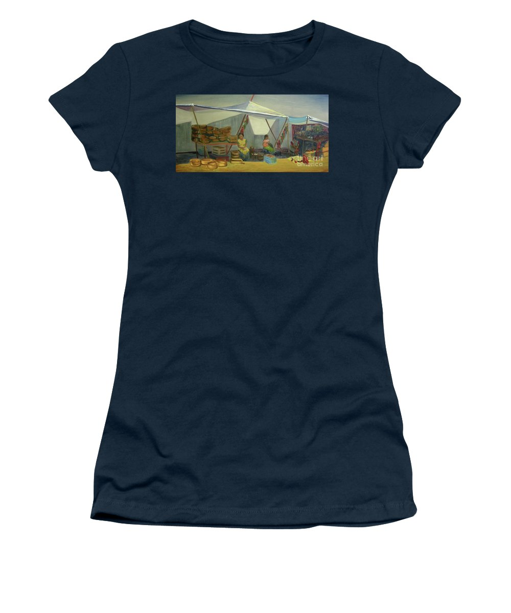 Mexico Women's T-Shirt featuring the painting Artesanas by Lilibeth Andre