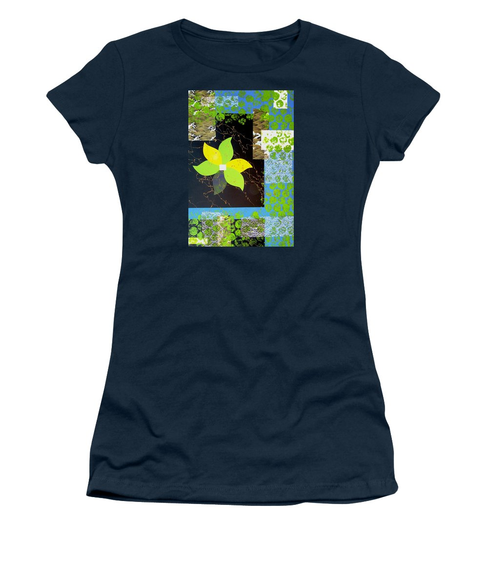 Abstract Women's T-Shirt featuring the painting Assemblage by Louise Adams