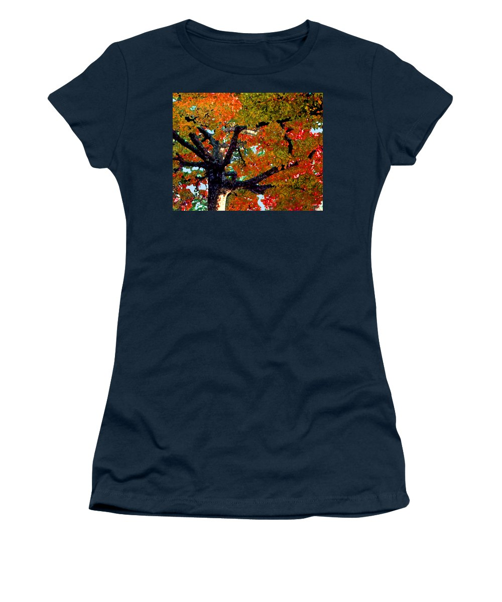 Fall Women's T-Shirt featuring the photograph Autumn Tree by Steve Karol