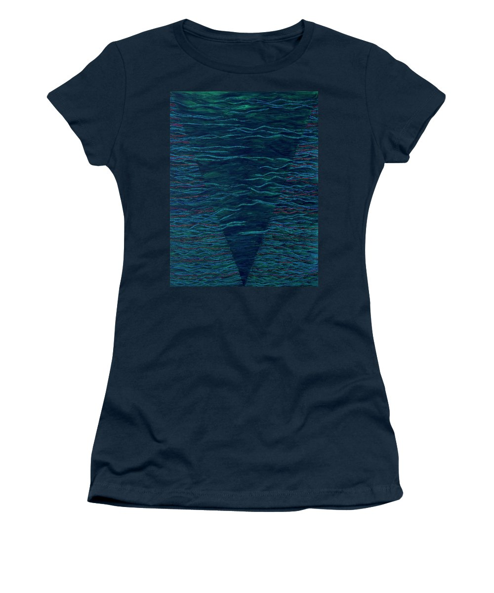 Spiritual Women's T-Shirt featuring the painting Back To Heaven 2 by Kyung Hee Hogg