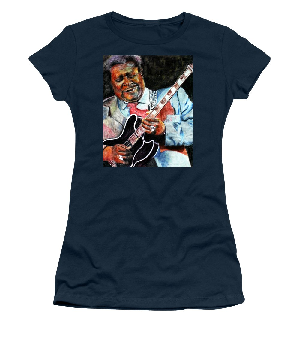 Bbking Women's T-Shirt (Athletic Fit) featuring the painting Bbking by Frances Marino