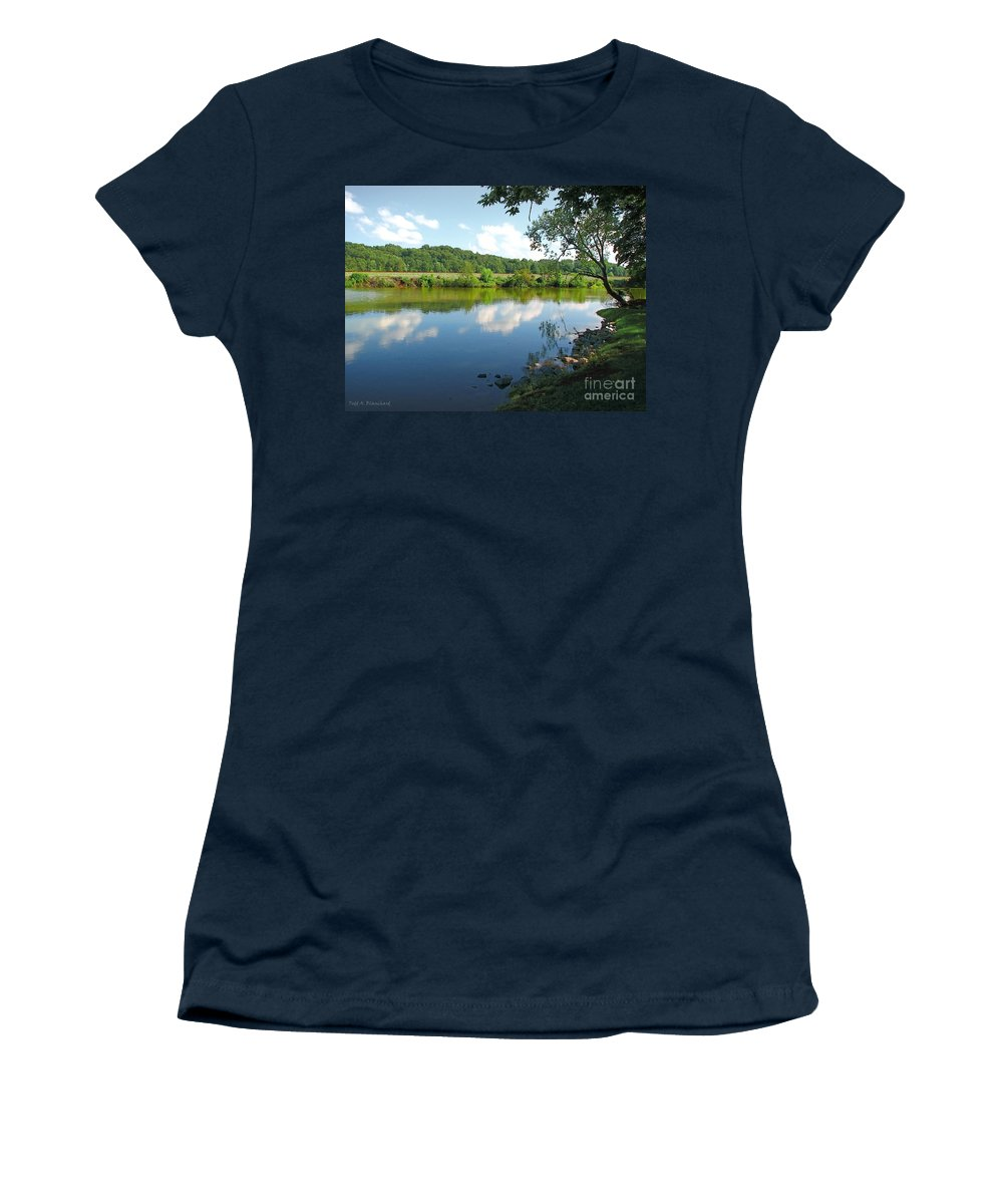 Landscape Women's T-Shirt (Athletic Fit) featuring the photograph Beautiful Blue Water by Todd Blanchard