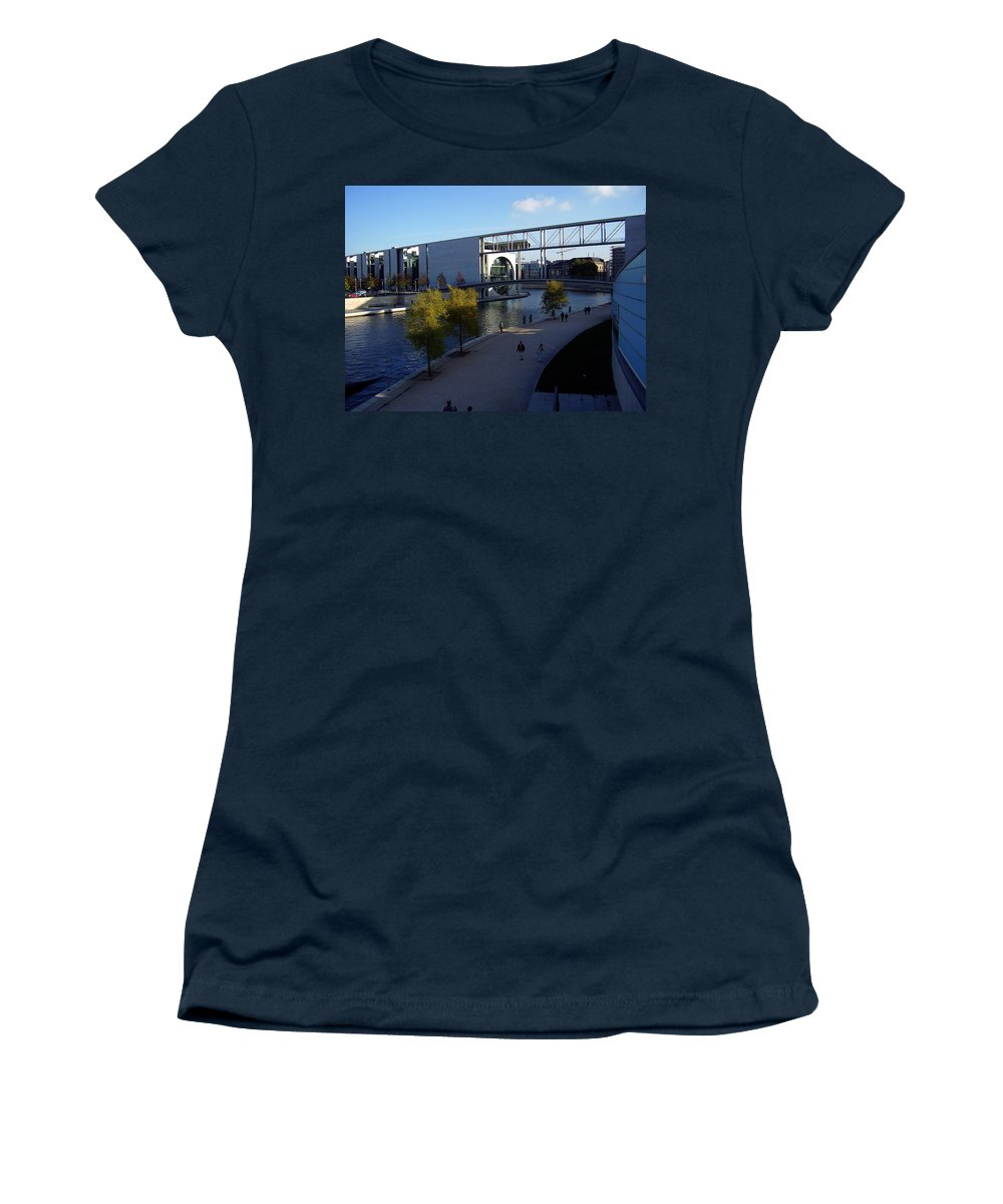 Paul-loebe Women's T-Shirt (Athletic Fit) featuring the photograph Berlin II by Flavia Westerwelle