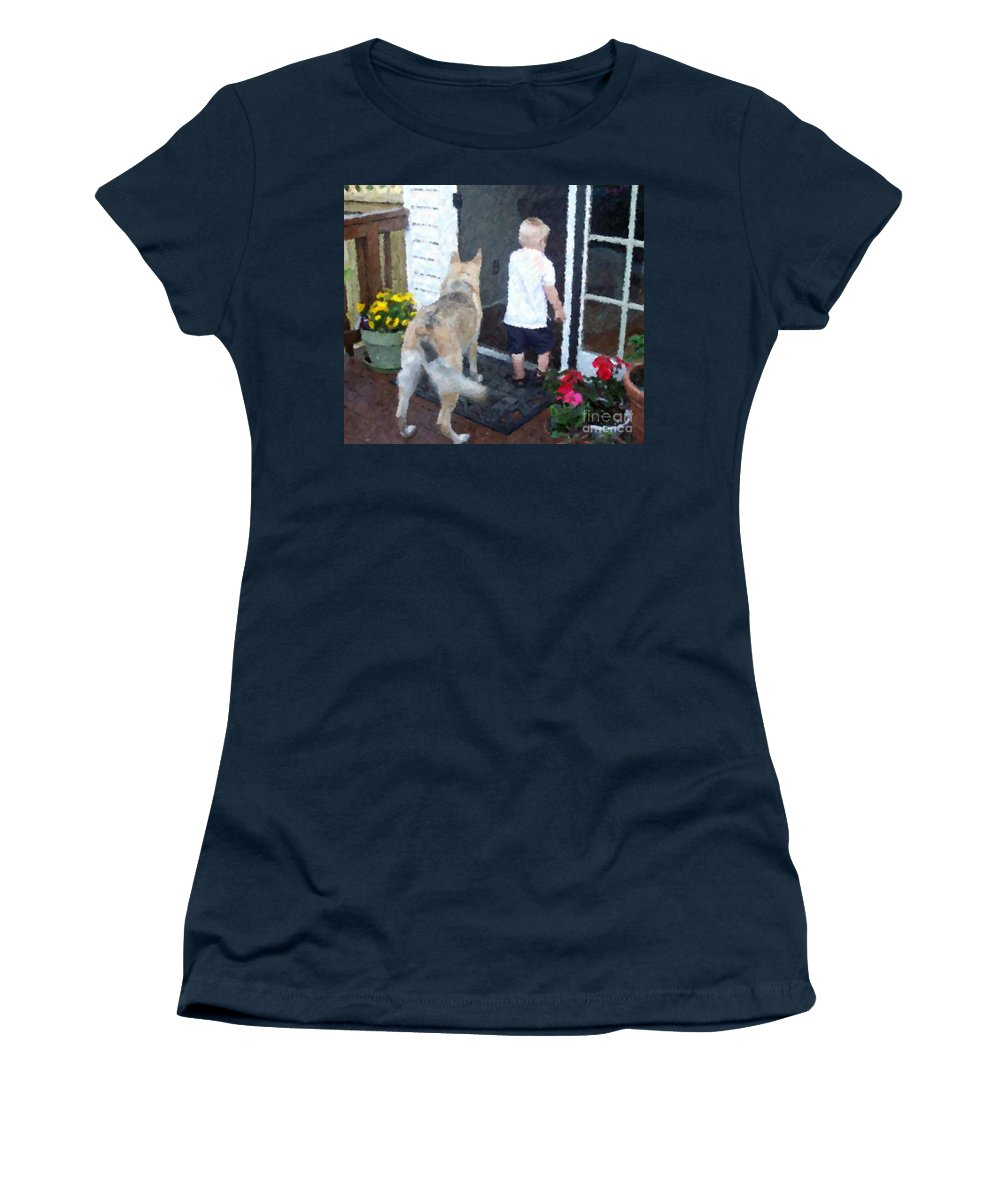 Dogs Women's T-Shirt featuring the photograph Best Friends by Debbi Granruth