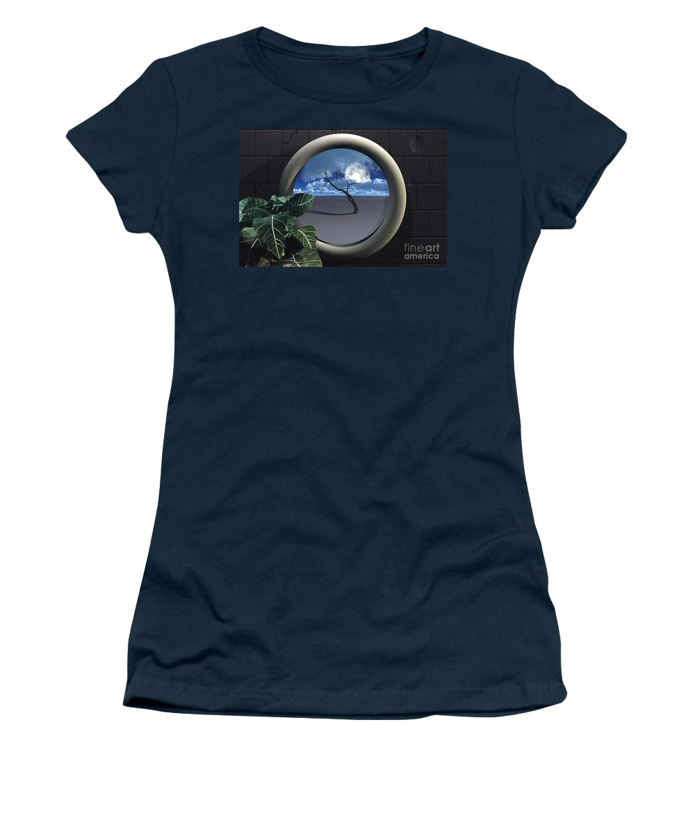 Walls Women's T-Shirt featuring the digital art Beyond Walls by Richard Rizzo