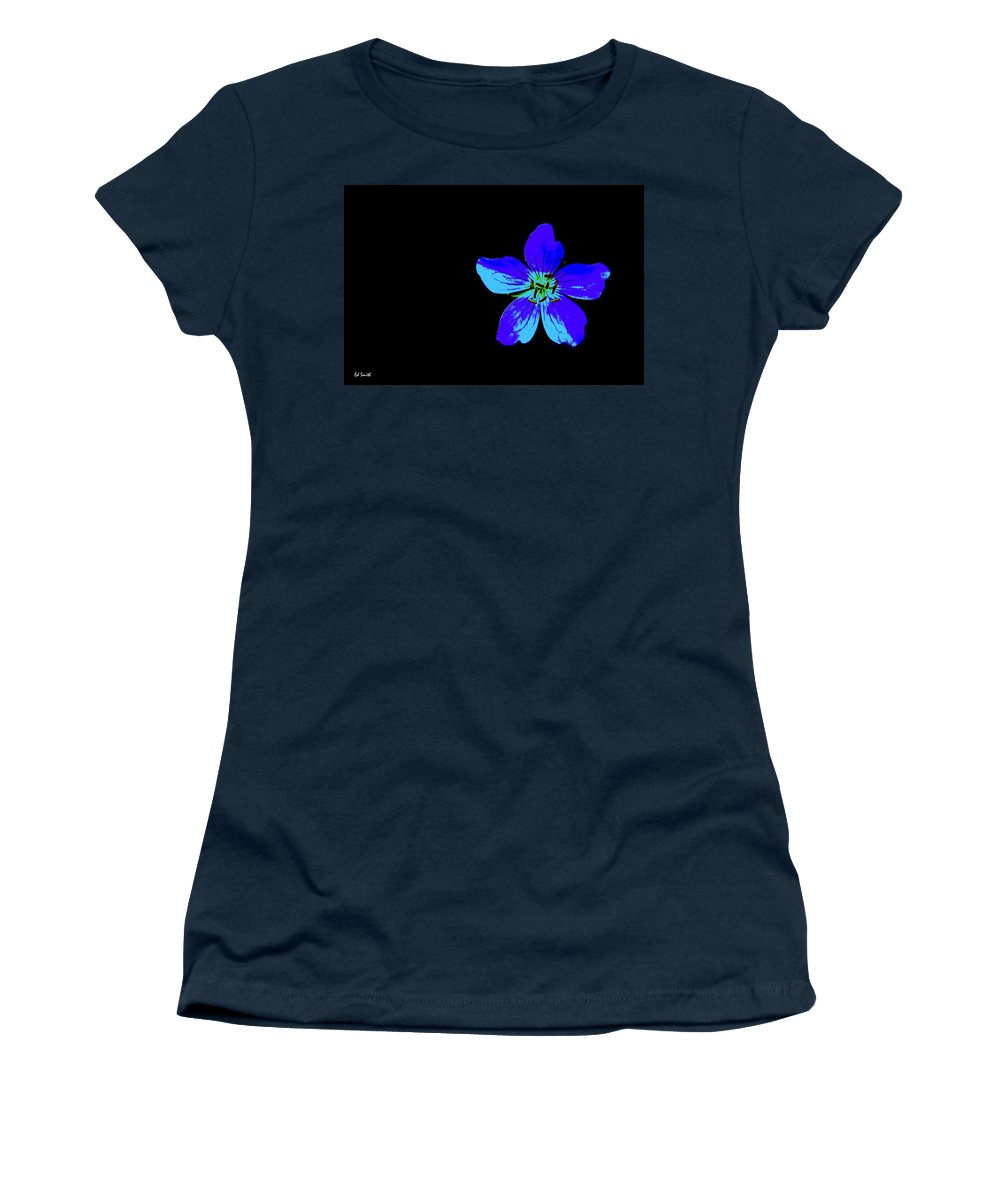 Blue By You Women's T-Shirt (Athletic Fit) featuring the photograph Blue By You by Ed Smith