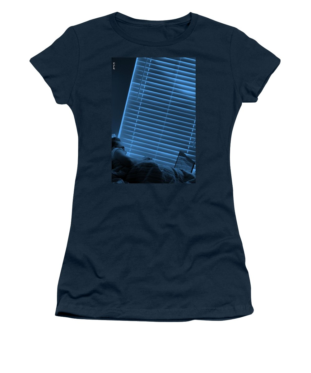 Blue Morning Women's T-Shirt (Athletic Fit) featuring the photograph Blue Morning by Ed Smith