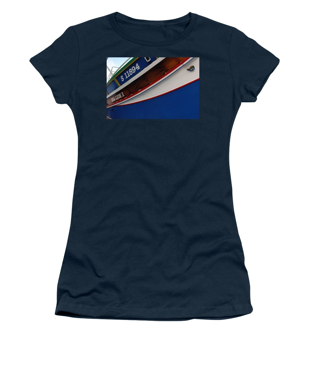 Boat. Ship Women's T-Shirt (Athletic Fit) featuring the photograph Boat by Cliff Norton