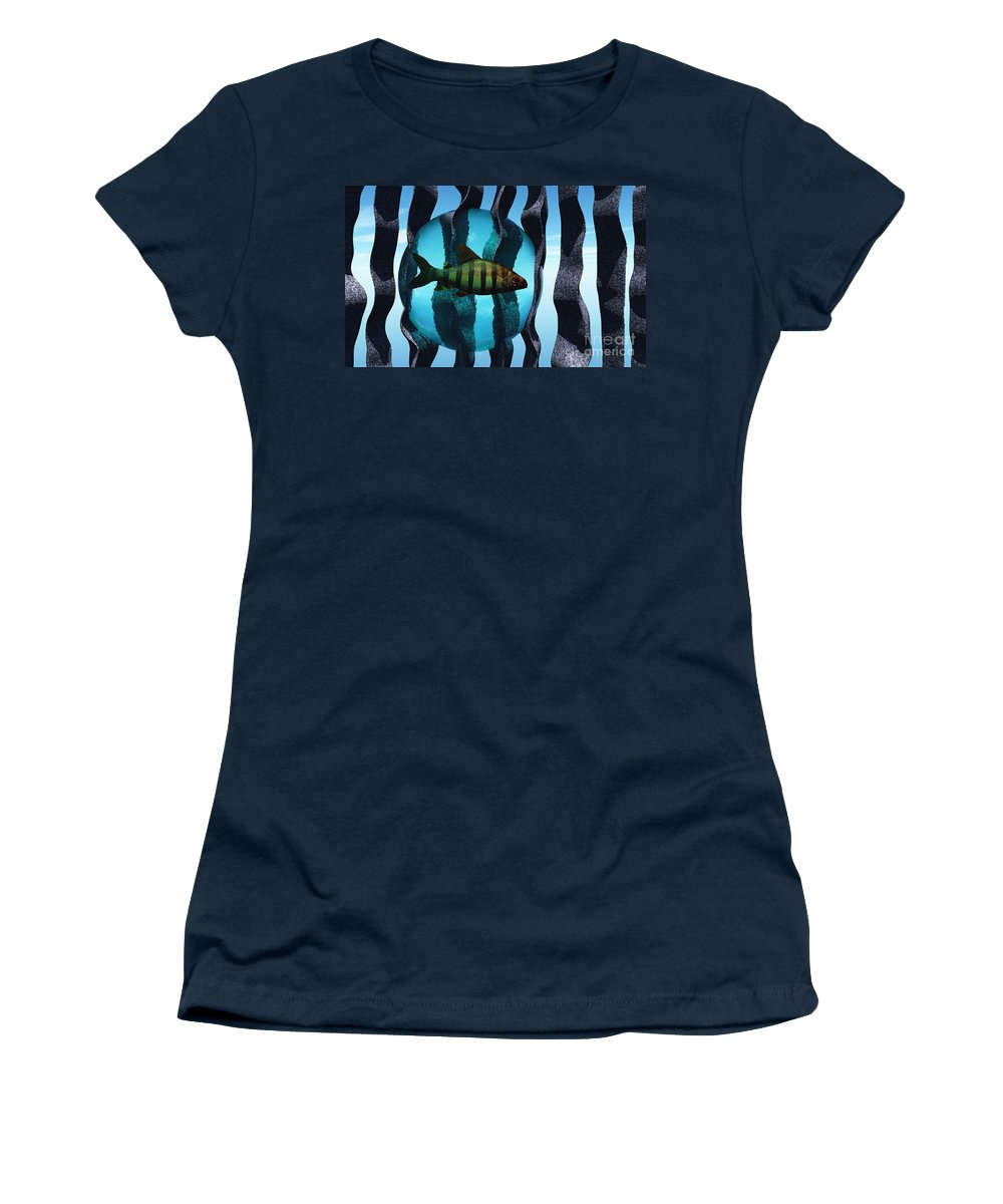 Surreal Women's T-Shirt (Athletic Fit) featuring the digital art Bound by Richard Rizzo