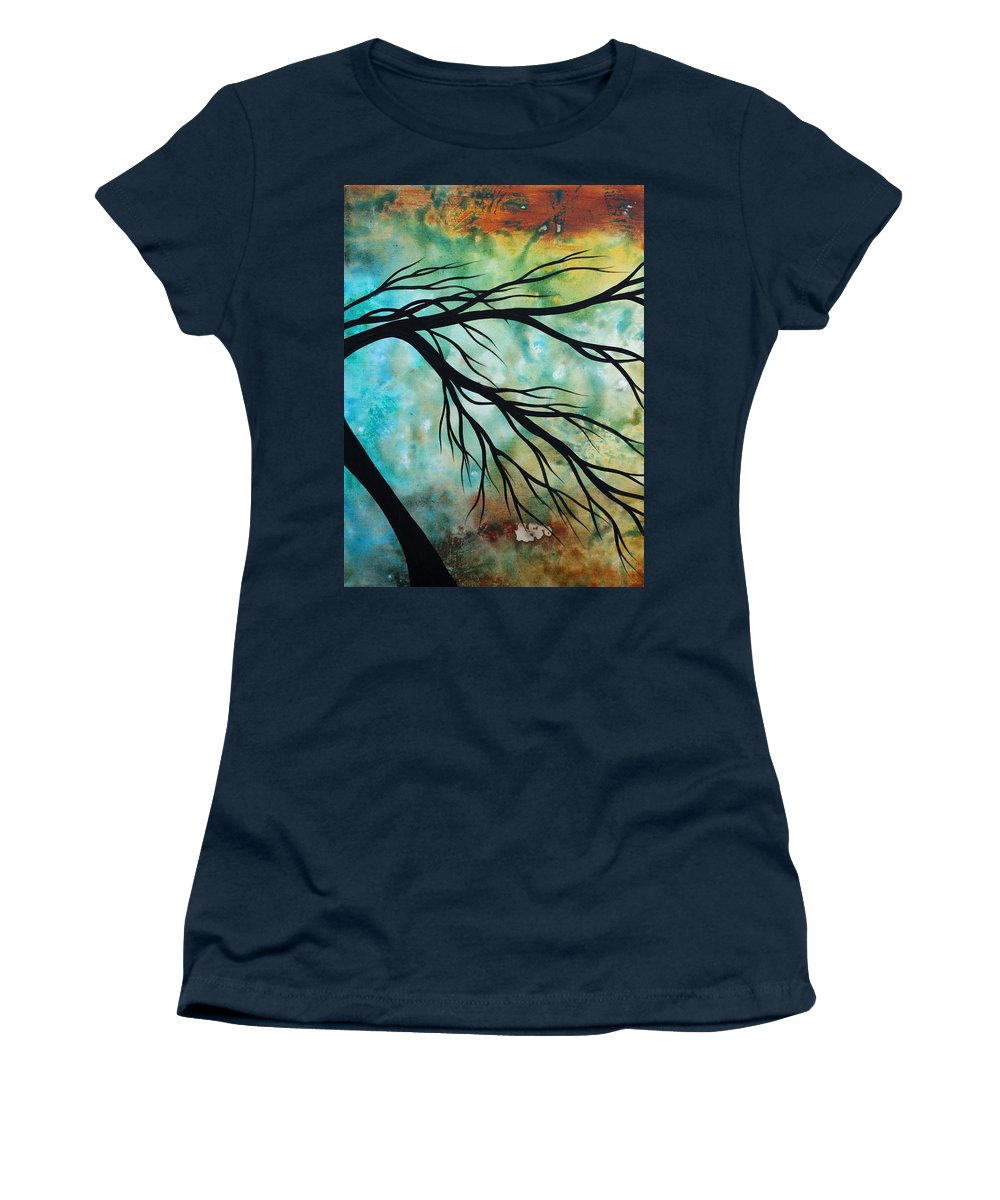 Art Women's T-Shirt featuring the painting Breathless 2 By Madart by Megan Duncanson
