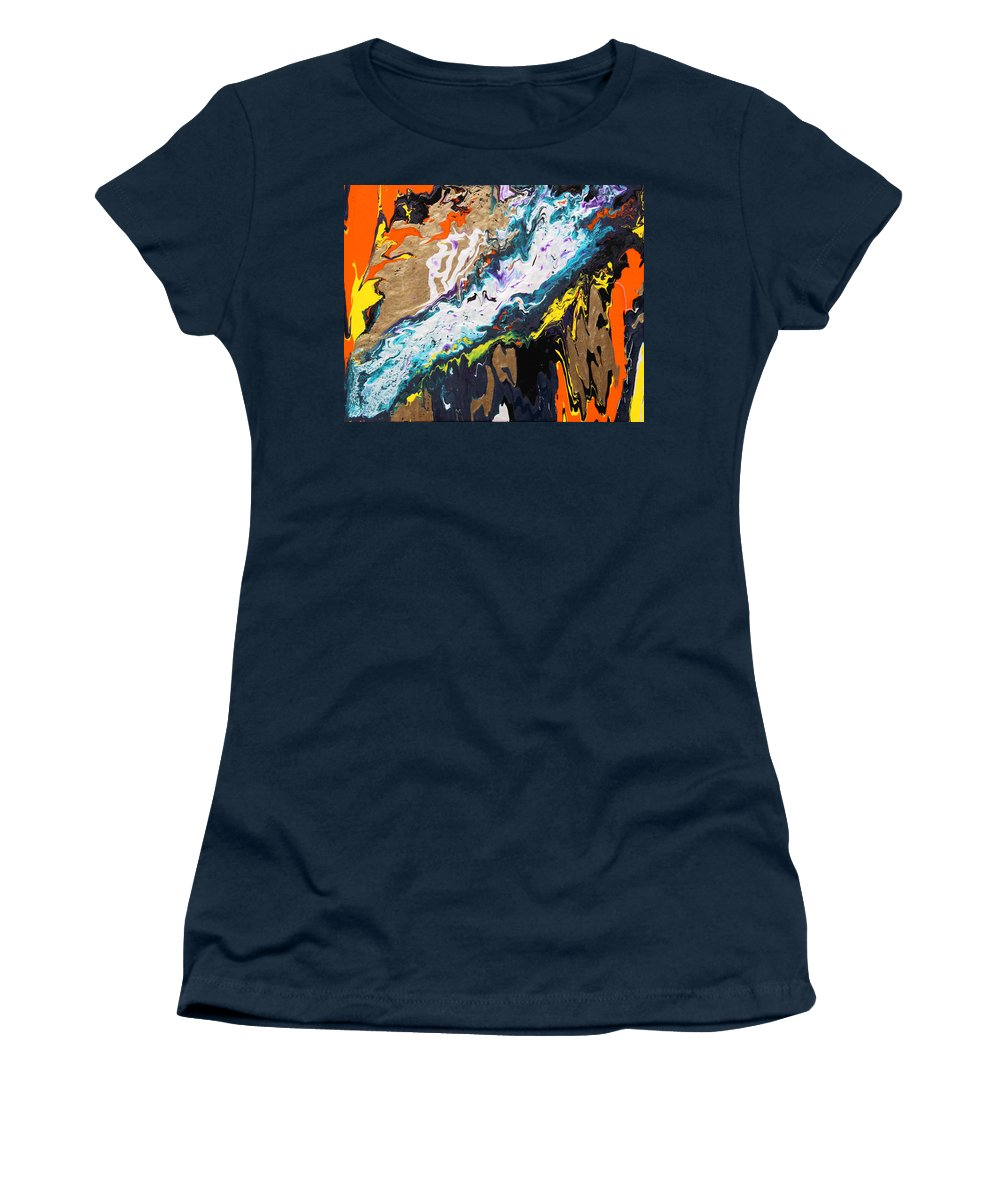 Fusionart Women's T-Shirt featuring the painting Bridge by Ralph White