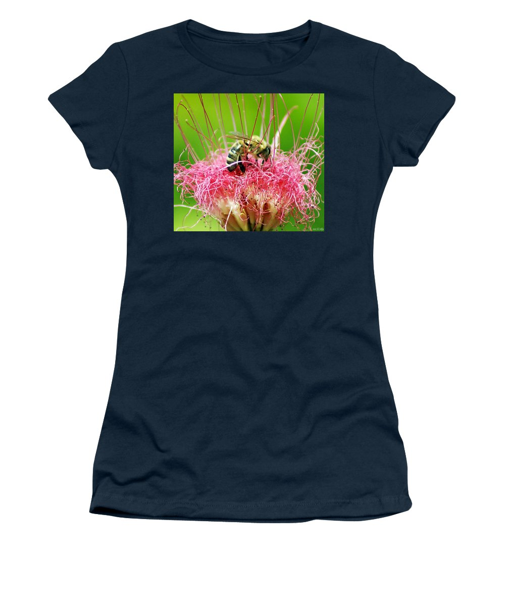 Nature Women's T-Shirt (Athletic Fit) featuring the photograph Busy Bee by Holly Kempe