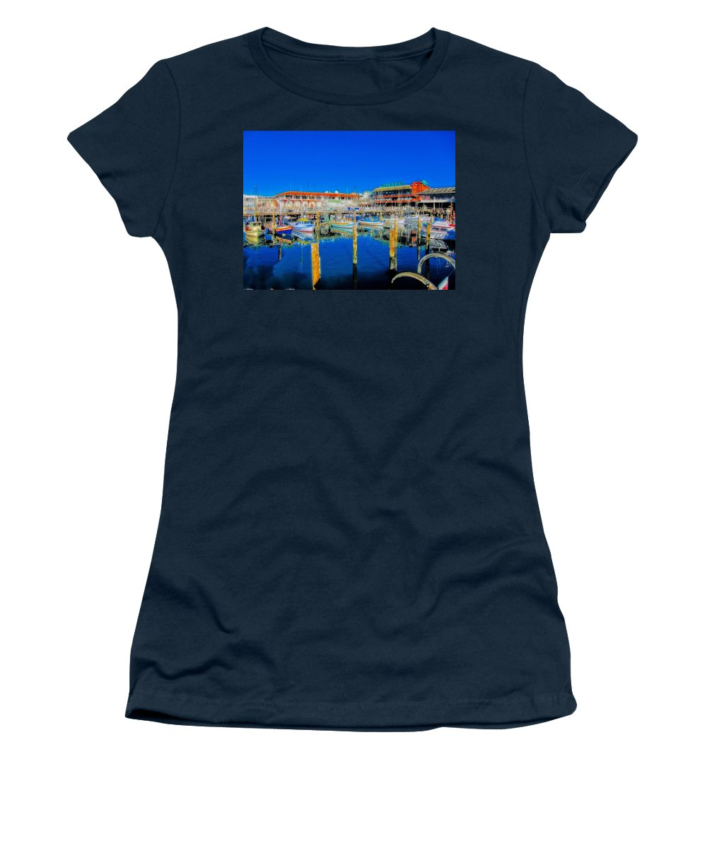 Hdr Women's T-Shirt featuring the photograph Calm Waters by Douglas Barnard