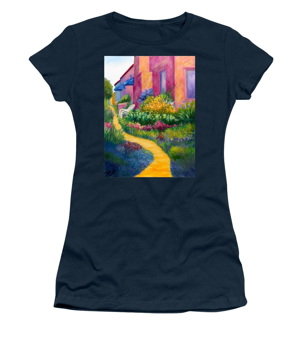 Landscape Women's T-Shirt (Athletic Fit) featuring the painting Capitola Dreaming Too by Shannon Grissom