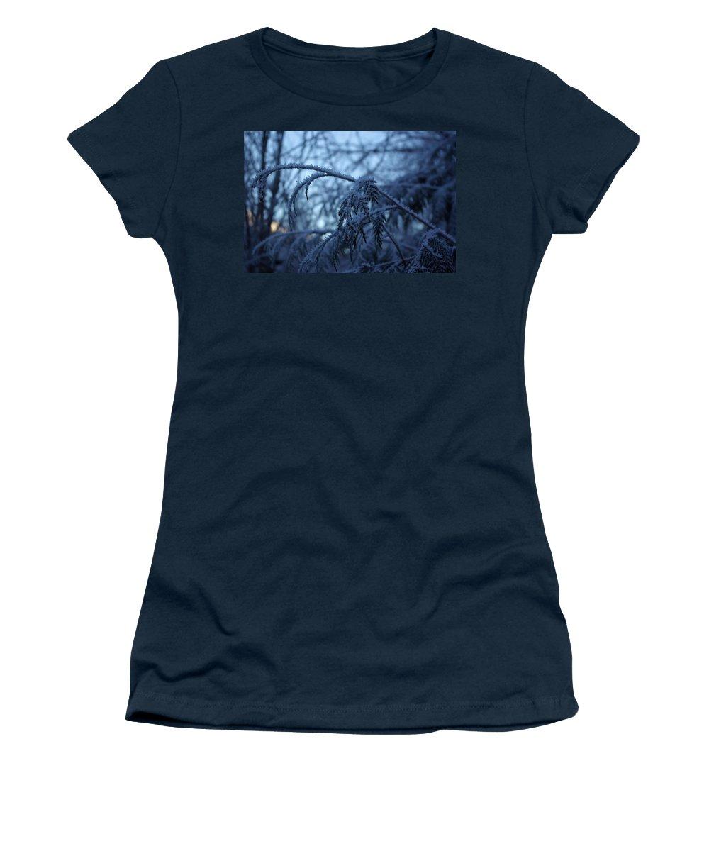 Cedar Women's T-Shirt featuring the photograph Cedars Of Ice by Cindy Johnston