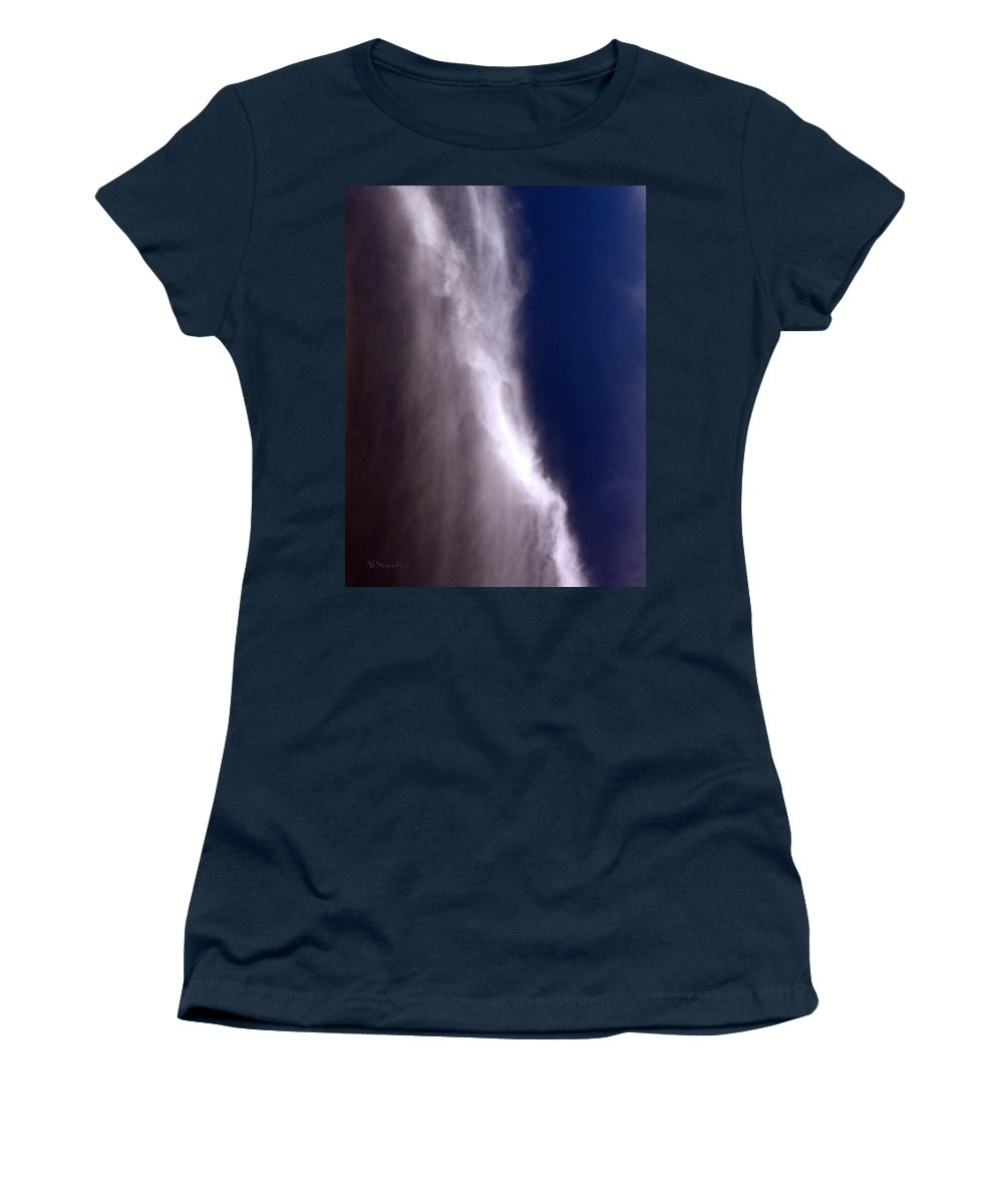 Angels Women's T-Shirt (Athletic Fit) featuring the photograph Celestial Falls by Albert Stewart