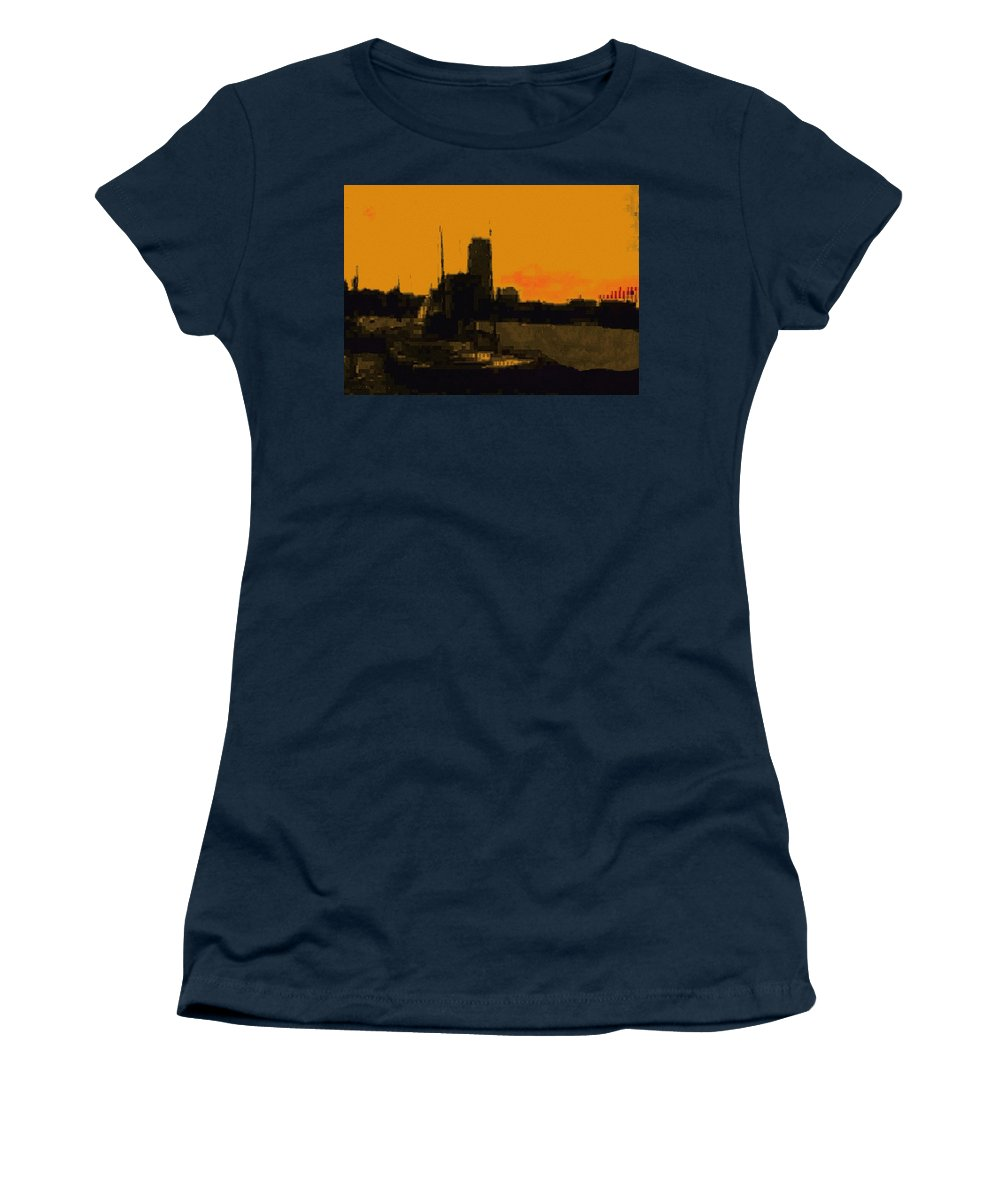 Boston Women's T-Shirt featuring the digital art Charles River 1967 by Cliff Wilson