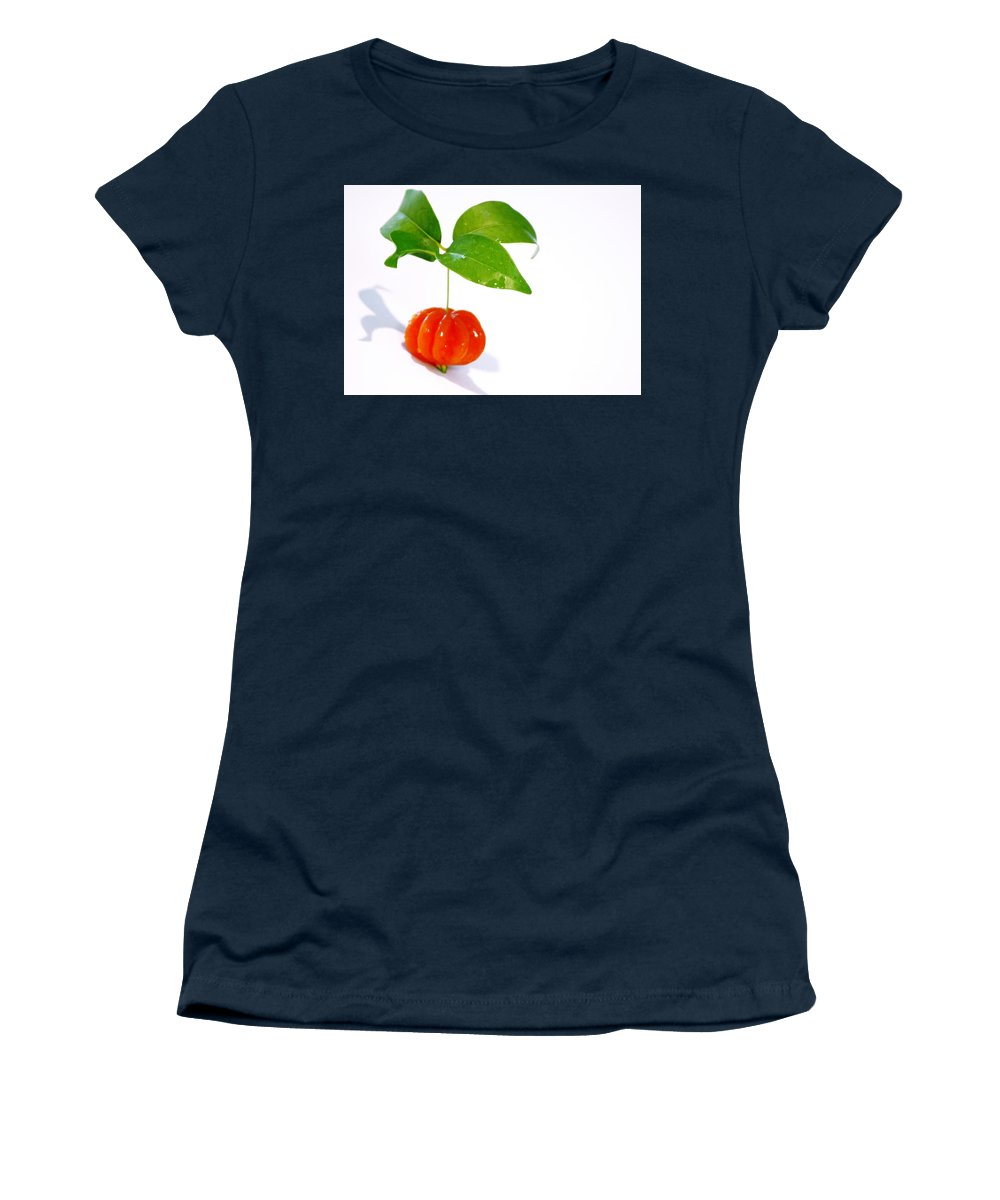 Food Women's T-Shirt (Athletic Fit) featuring the photograph Cherry by Holly Kempe