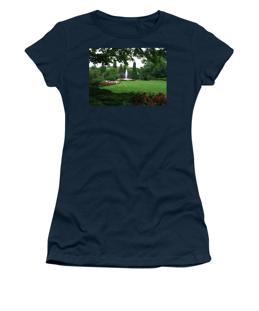 Landscape Women's T-Shirt featuring the photograph Chicago Botanical Gardens Landscape by Steve Karol