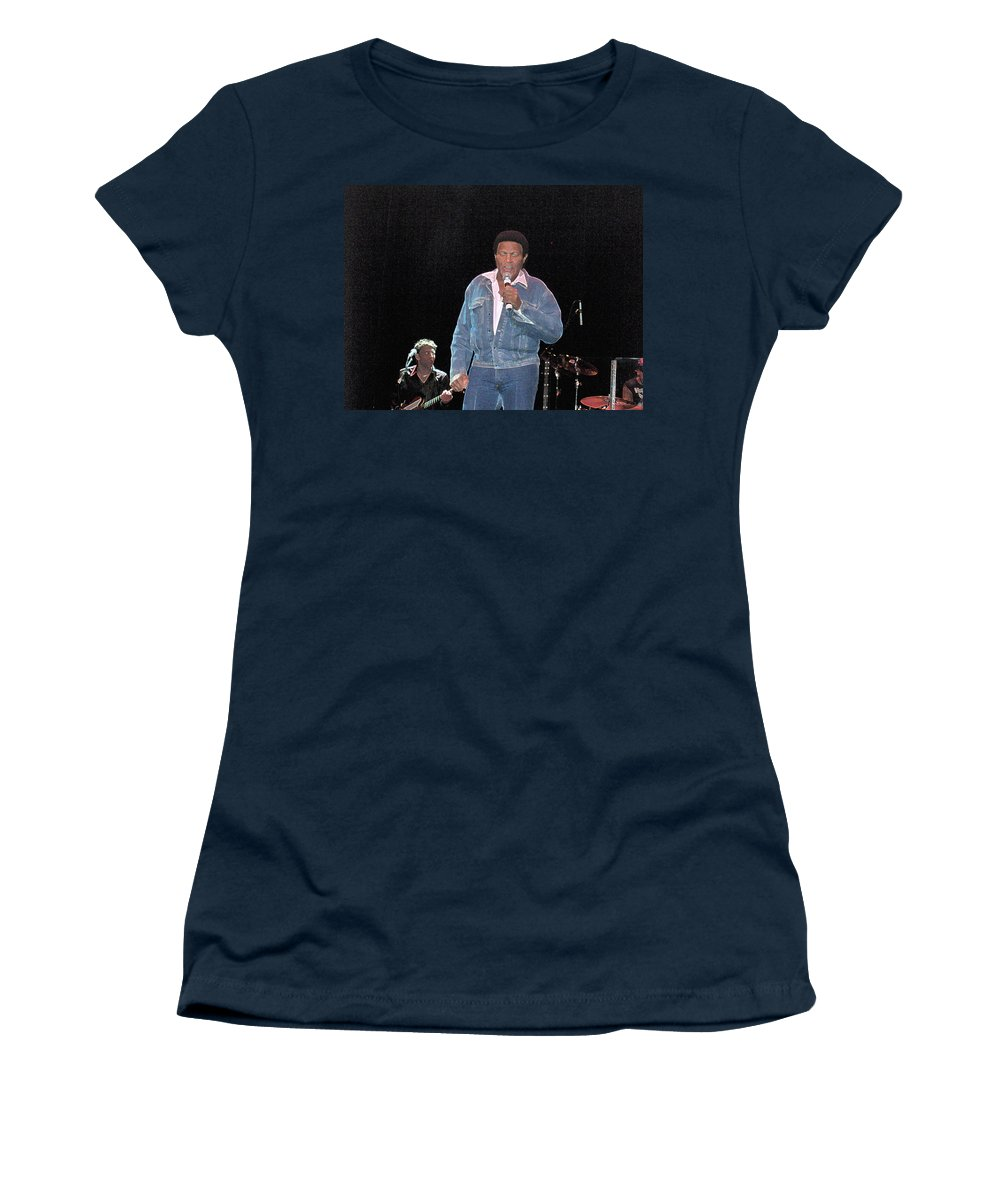 Chubby Checker Singer Bands Music Blues Dance Star Concert Women's T-Shirt featuring the photograph Chubby Checker by Andrea Lawrence