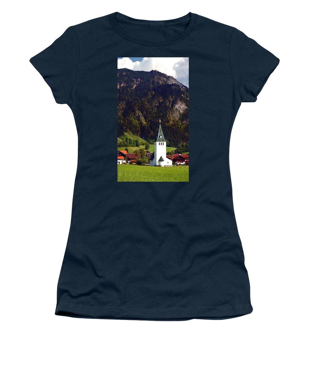 Church Women's T-Shirt featuring the photograph Church Of Bad Oberdorf by Ginger Wakem