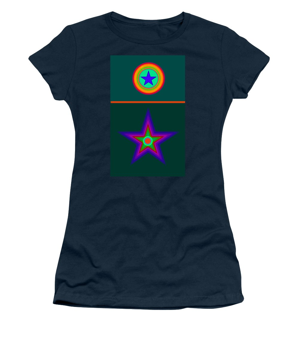 Circus Women's T-Shirt featuring the digital art Circus Vert by Charles Stuart
