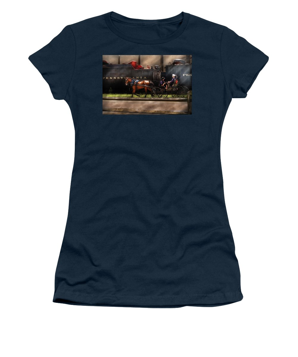Savad Women's T-Shirt featuring the photograph City - Lancaster Pa - You Got To Love Lancaster by Mike Savad