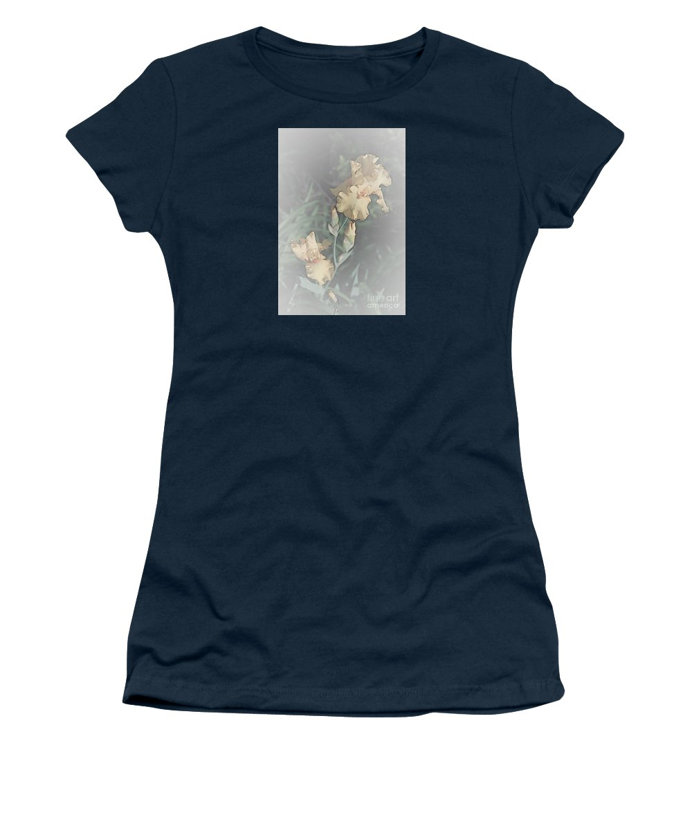Iris Women's T-Shirt (Athletic Fit) featuring the photograph Climbing To The Top by Sherry Hallemeier