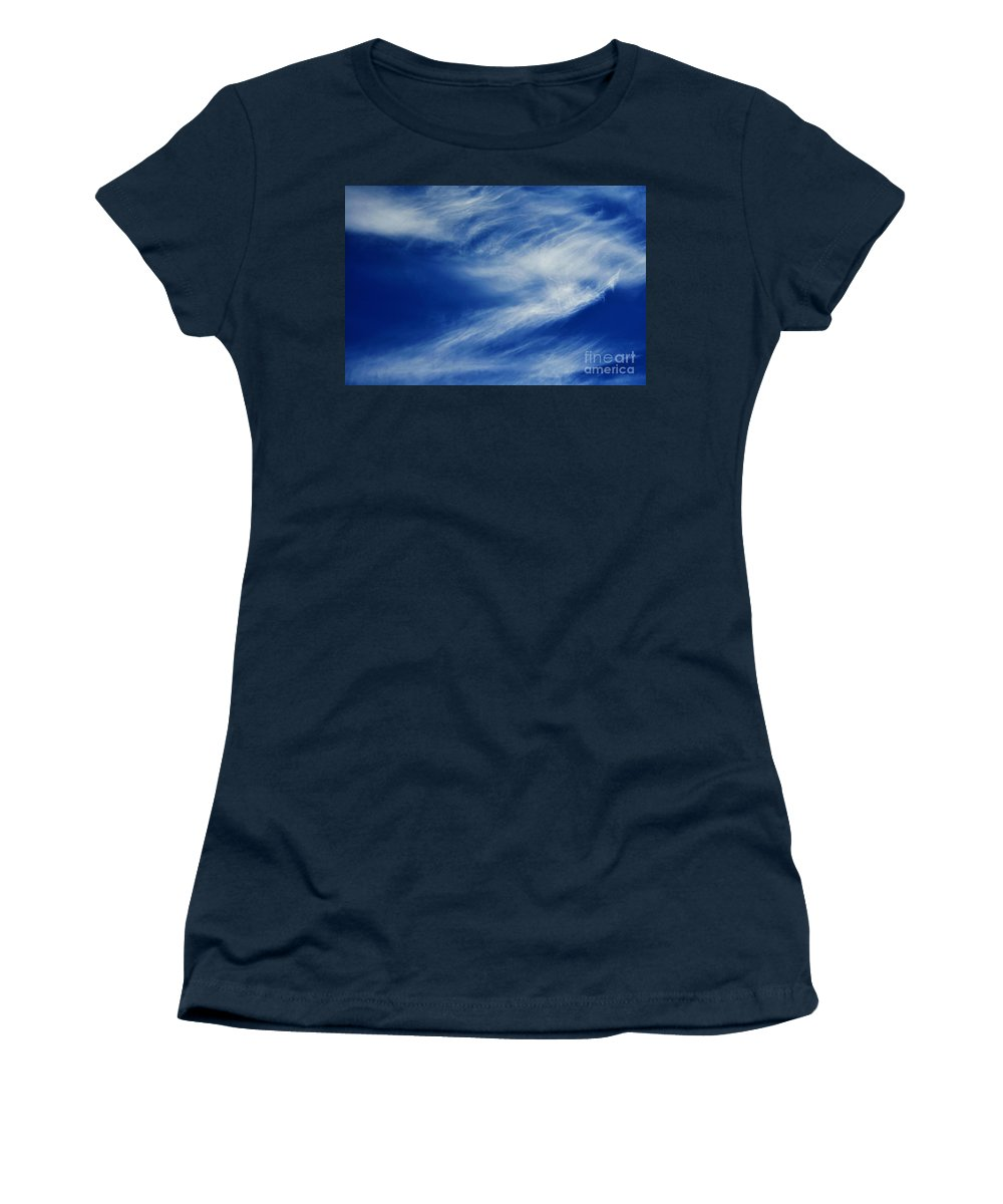 Clay Women's T-Shirt (Athletic Fit) featuring the photograph Cloud Formations by Clayton Bruster