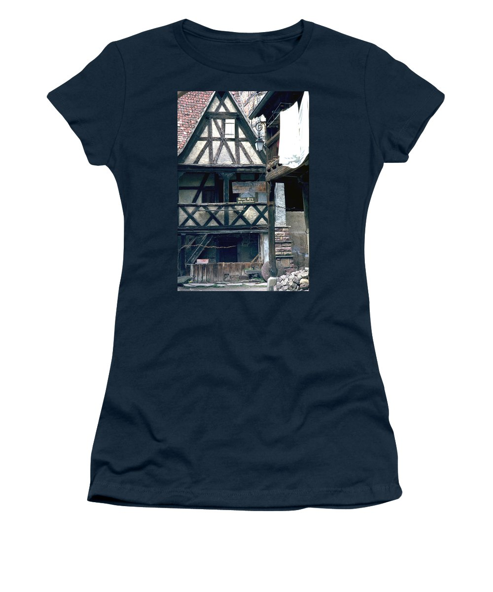 Colmar Women's T-Shirt (Athletic Fit) featuring the photograph Colmar by Flavia Westerwelle