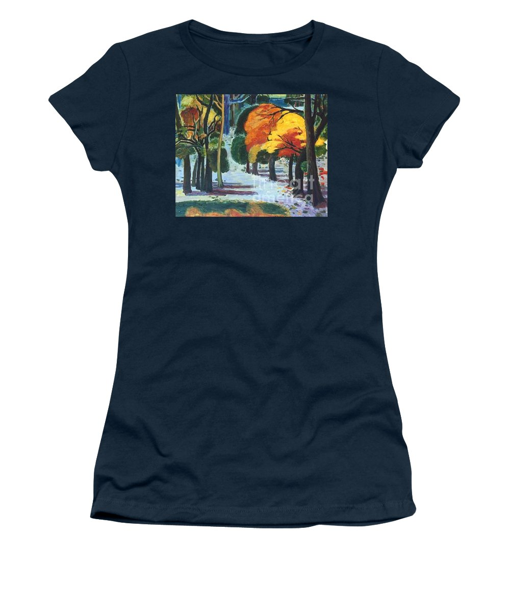 Colors Women's T-Shirt featuring the painting Colors Of Fall by Meihua Lu