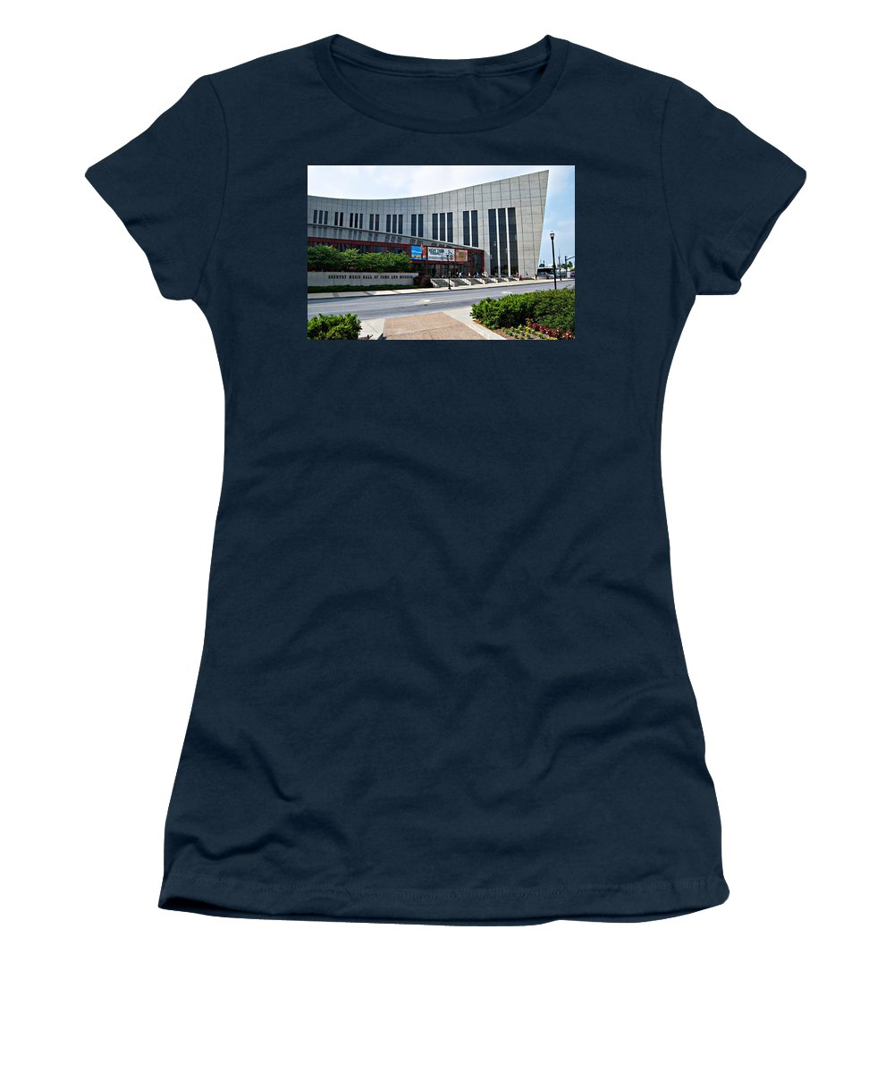 Country Music Hall Of Fame Nashville Women's T-Shirt (Athletic Fit) featuring the photograph Country Music Hall Of Fame Nashville by Bob Pardue