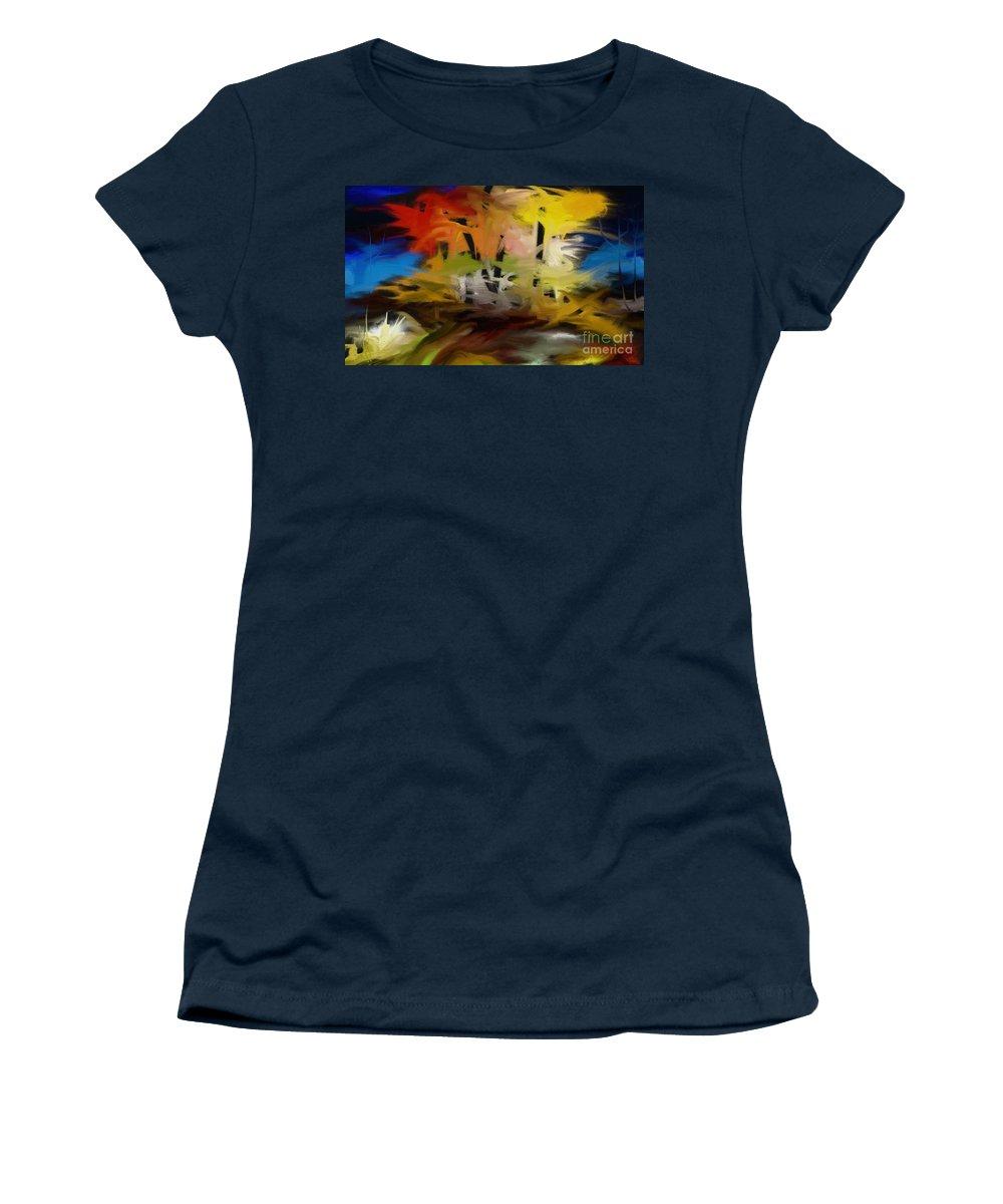 Digital Women's T-Shirt featuring the painting Crazy Nature by Rushan Ruzaick