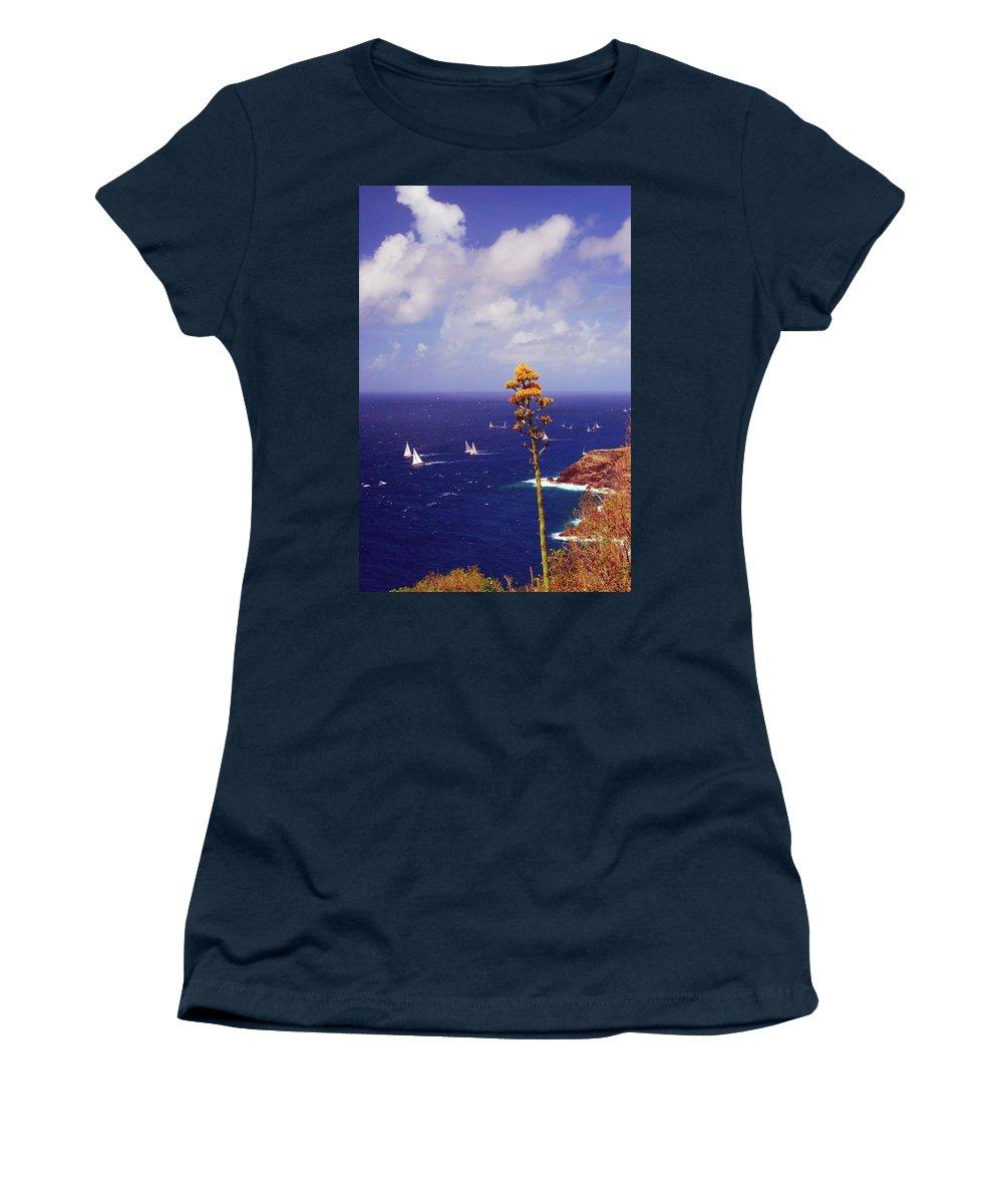 Caribbean Islands Women's T-Shirt featuring the photograph Daggers Los Antigua by Gary Wonning