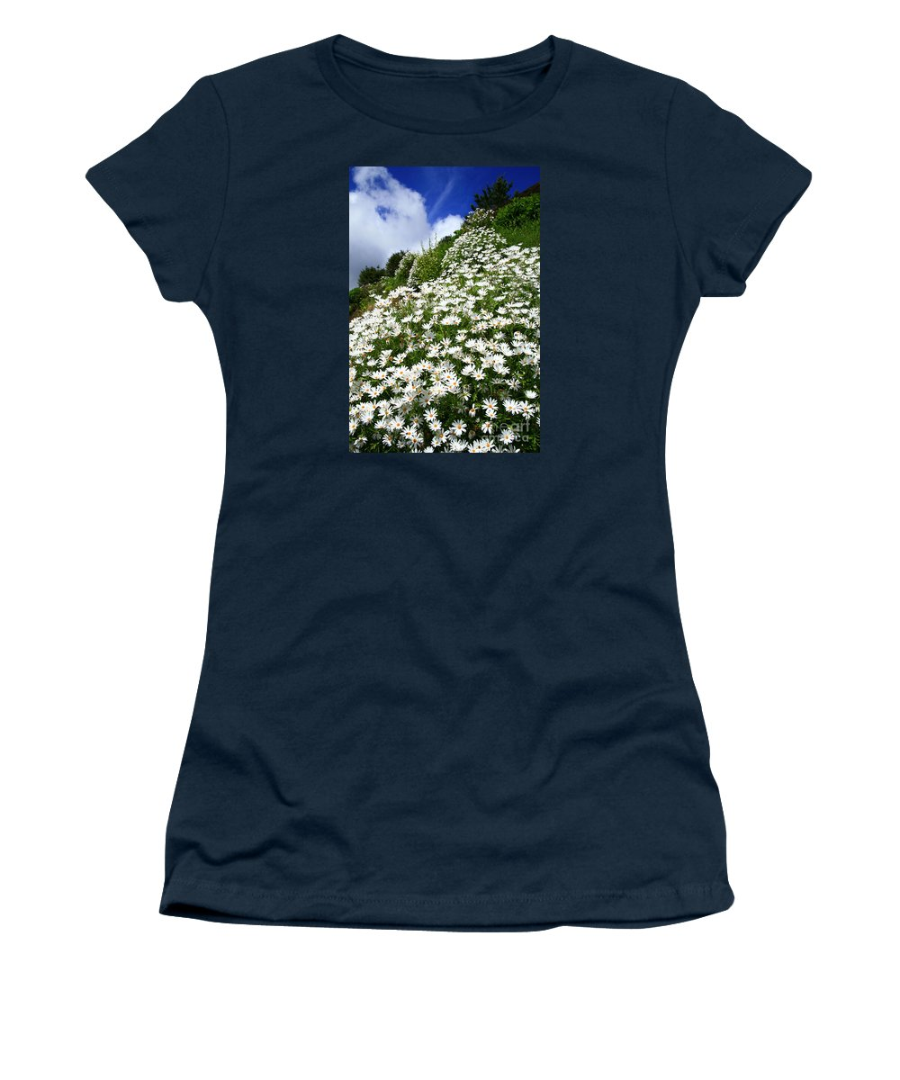 Countryside Women's T-Shirt (Athletic Fit) featuring the photograph Daisies by Gaspar Avila