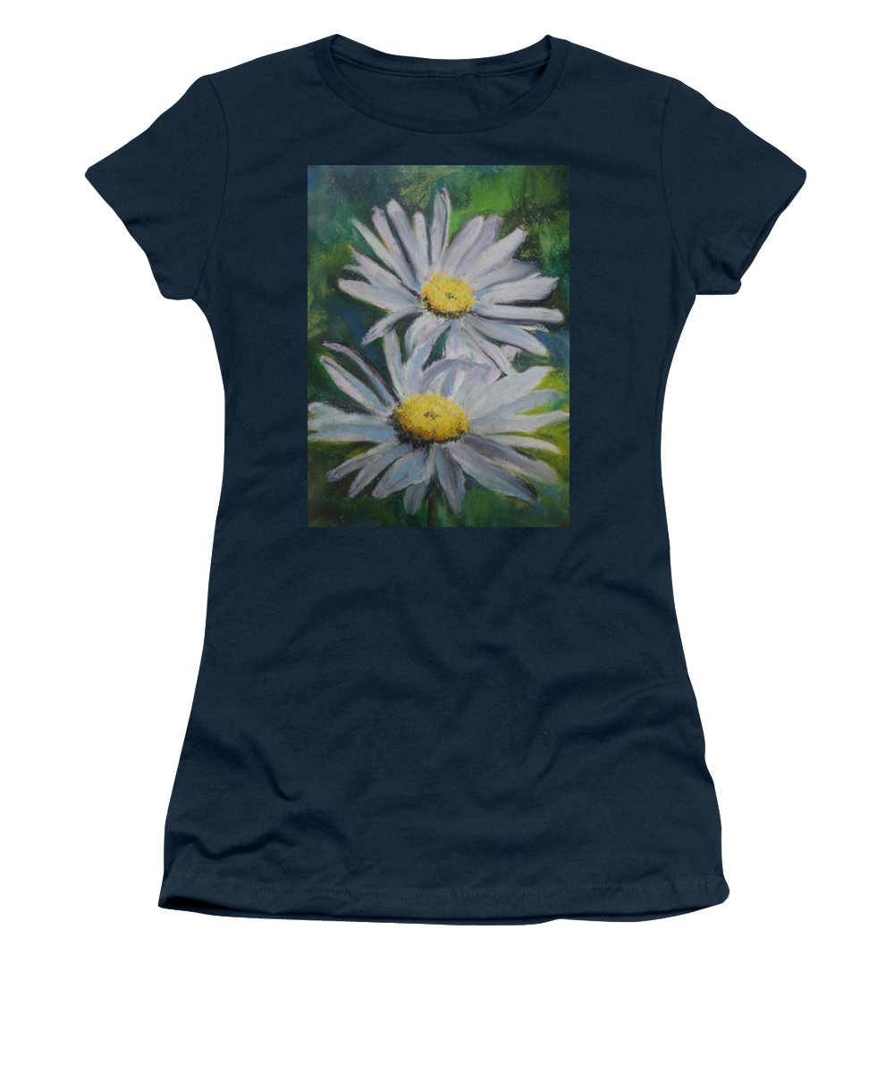 Daisies Women's T-Shirt featuring the painting Daisies by Melinda Etzold