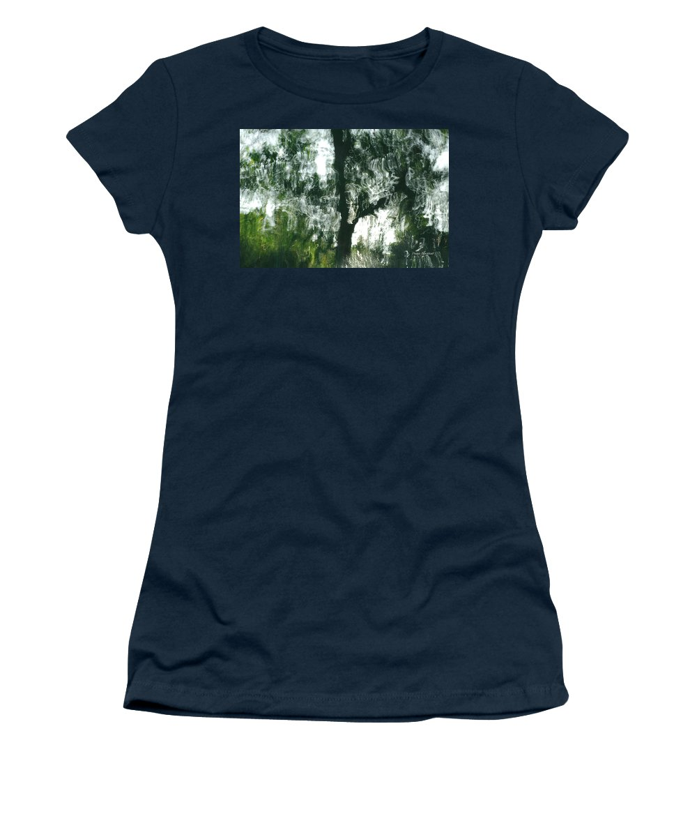 Water Women's T-Shirt featuring the photograph Dancing Trees by Donna Blackhall