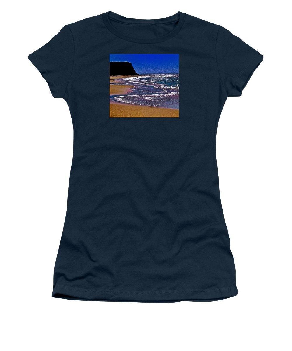 Davenport Landing Beach Purple Women's T-Shirt featuring the photograph Davenport Landing Beach Purple by Scott L Holtslander