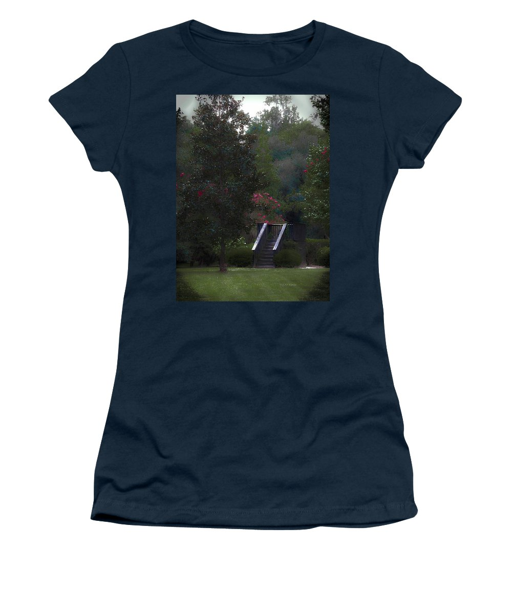Plantation Women's T-Shirt (Athletic Fit) featuring the digital art Deck Of Appeasement by DigiArt Diaries by Vicky B Fuller