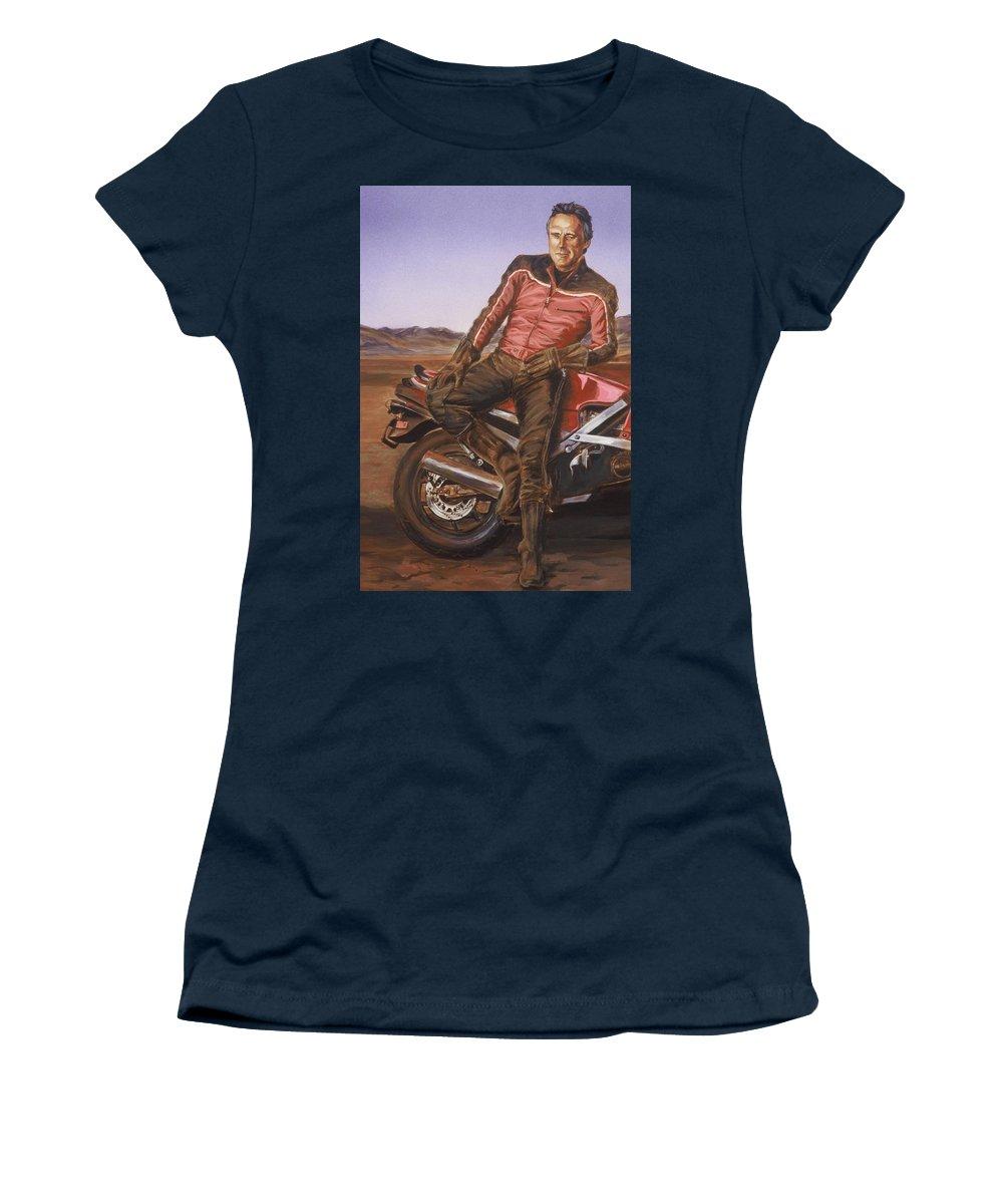 Dennis Hopper Women's T-Shirt featuring the painting Dennis Hopper by Bryan Bustard