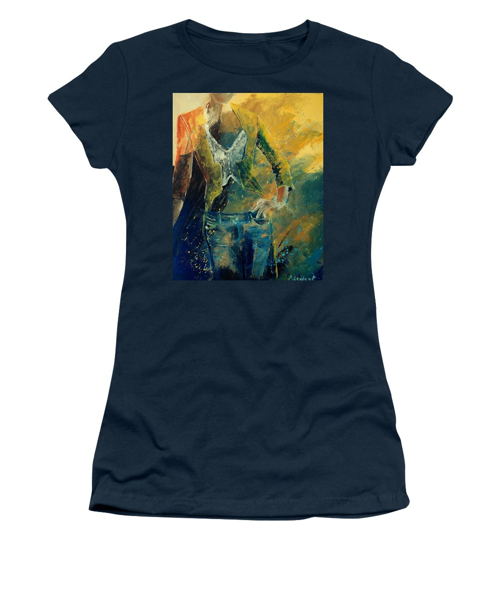 Woman Girl Fashion Women's T-Shirt featuring the painting Dinner Jacket by Pol Ledent