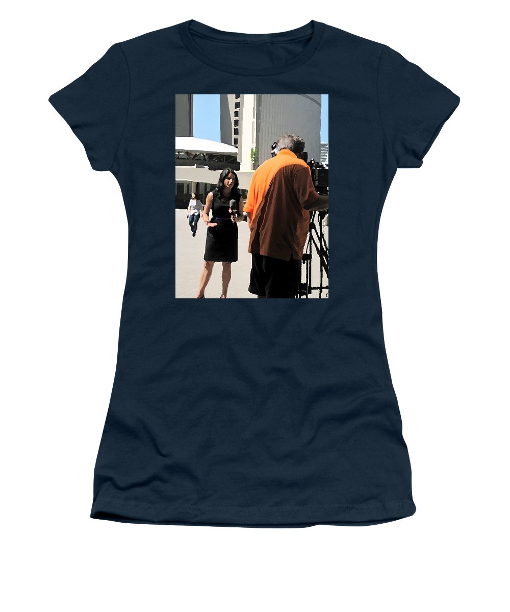 Toronto Women's T-Shirt featuring the photograph Direct From City Hall by Ian MacDonald