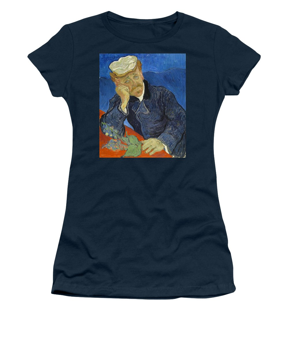 Vincent Van Gogh Women's T-Shirt featuring the painting Doctor Paul Gachet by Vincent Van Gogh