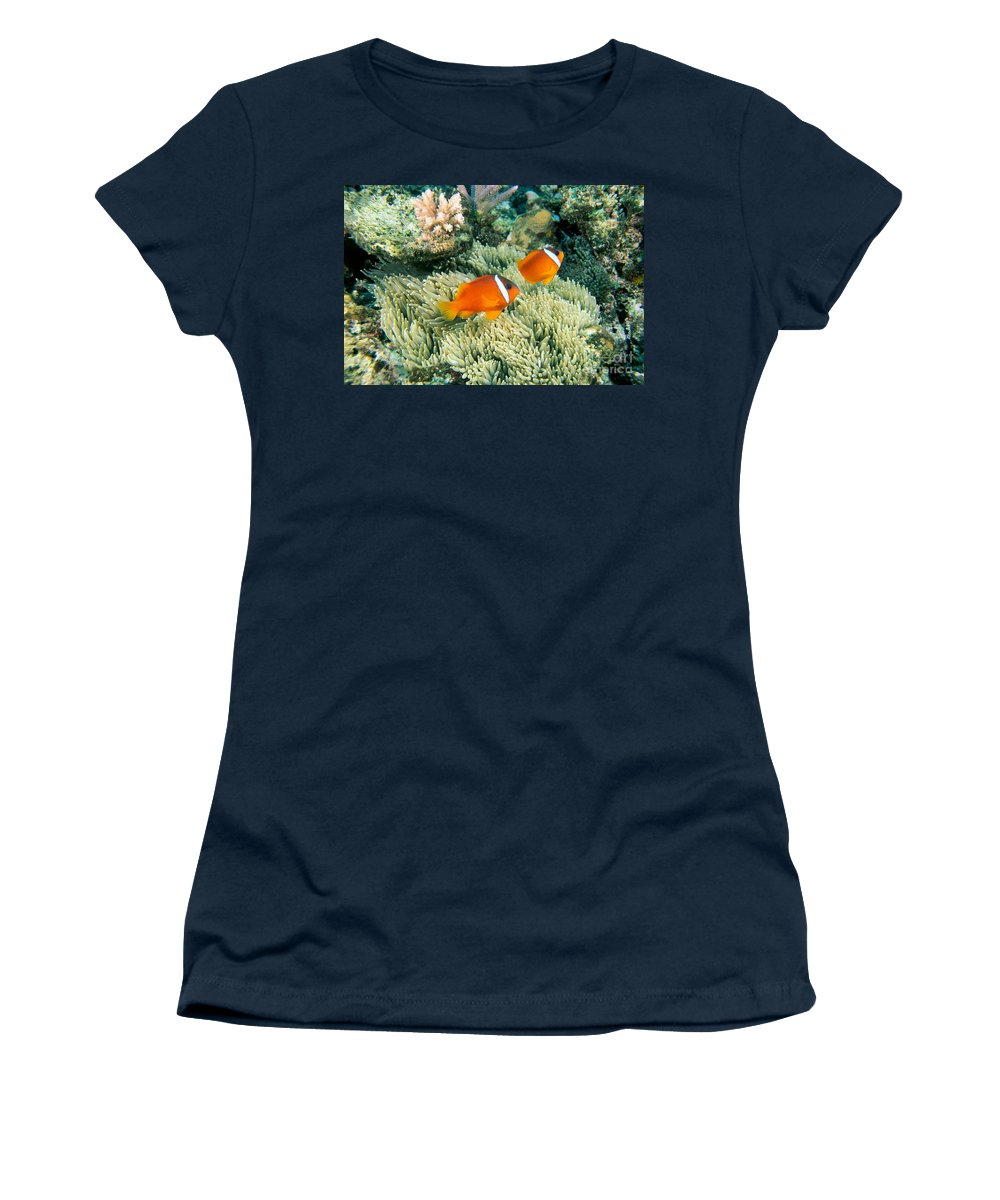 Amphiprion Women's T-Shirt featuring the photograph Dusky Clownfish by Dave Fleetham - Printscapes